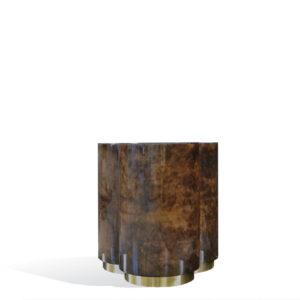 3 Clover Side Table - Goatskin