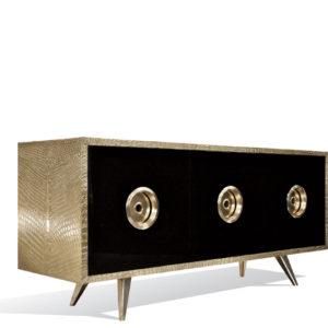 Croco Sideboard - Brass