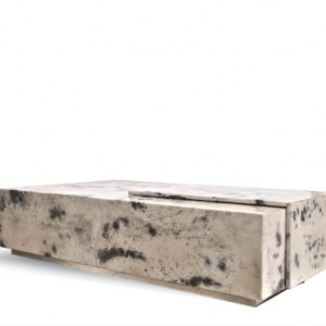 Cadillac Coffee Table - Light Gray Goatskin