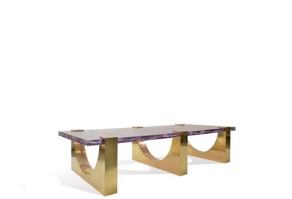 Aqueduct Coffee Table (LG) - Ice-Resin